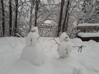 Gäste haben uns diese beiden schönen Schneemänner hinterlassen